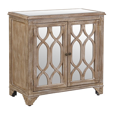Lillian Weathered Mirrored Cabinet