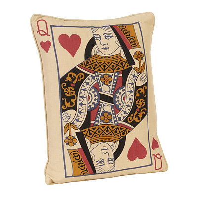 Queen of Hearts Reversible Accent Pillow