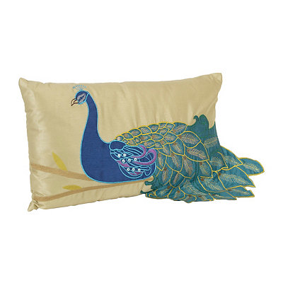 Fancy Peacock Accent Pillow