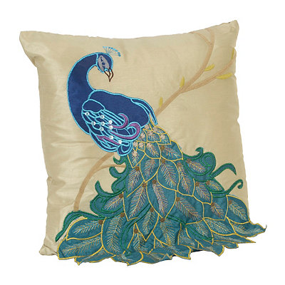 Fancy Peacock Pillow