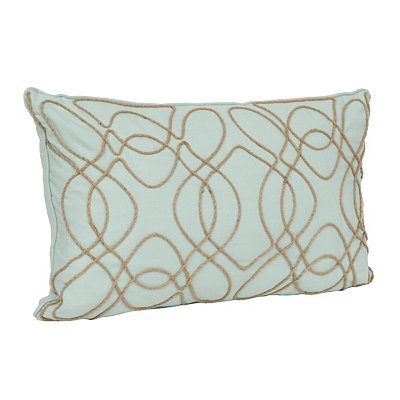 Misty Jade Randi Rope Accent Pillow