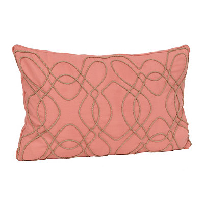 Coral Randi Rope Accent Pillow