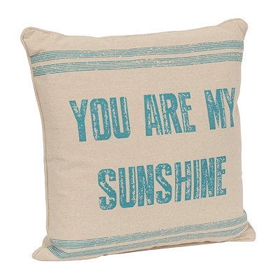 Aqua You Are My Sunshine Pillow
