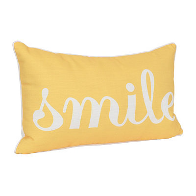 Yellow Smile Accent Pillow