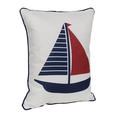 Sailboat Reversible Accent Pillow