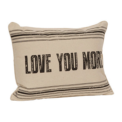 Brown Love You More Pillow