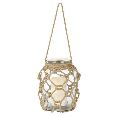 Knotted Rope Hanging Glass Lantern
