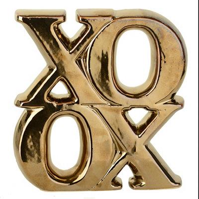 Gold XOXO Statue