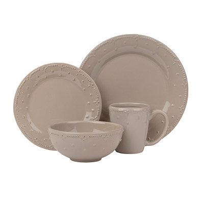 Genevieve Taupe 16-pc. Dinnerware Set