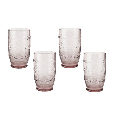 Purple Harper Highball Glasses, Set of 4