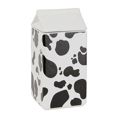 Black And White Cow Print Jar