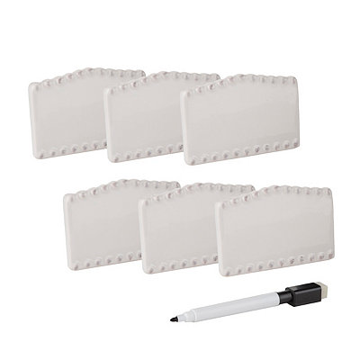 Bianca White Bead Place Cards, Set of 7