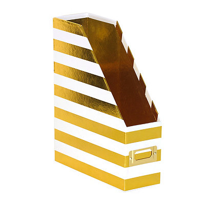 Gold Stripe Paper Organizer