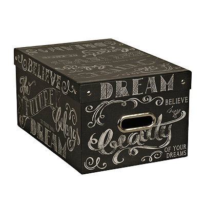 Large Chalk Words Storage Box