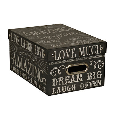 Medium Chalk Words Storage Box