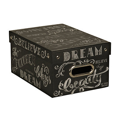 Small Chalk Words Storage Box