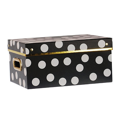 Large Black and White Storage Box