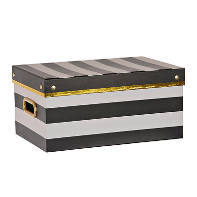 Medium Black and White Storage Box