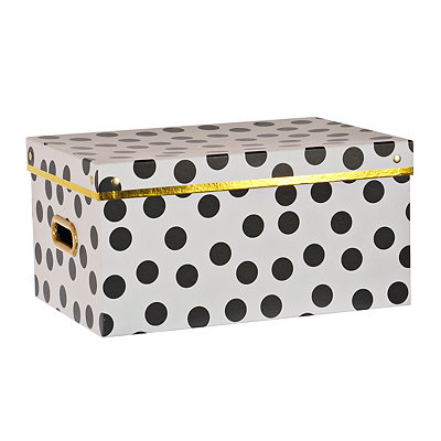 Small Black and White Storage Box