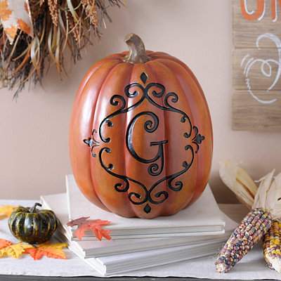 Orange & Black Monogram G Pumpkin