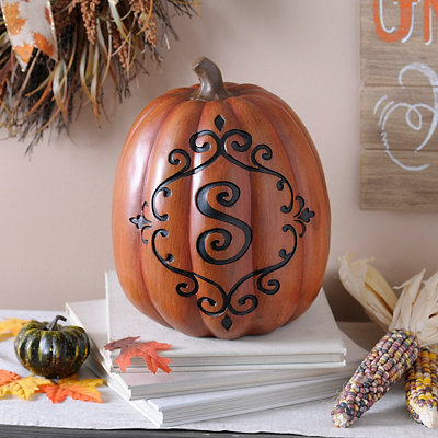 Orange & Black Monogram S Pumpkin
