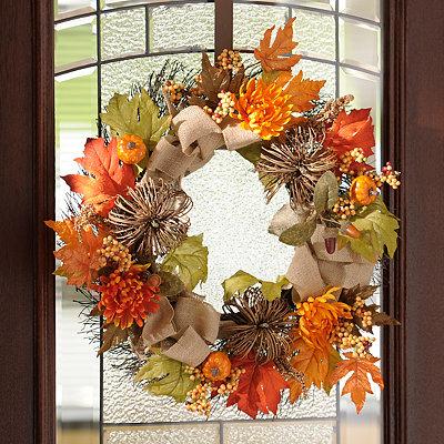 Mum and Pumpkin Mix Wreath