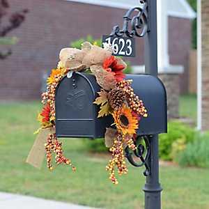 Harvest Sunflower Mailbox Swag