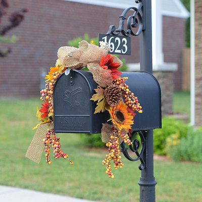 Harvest Sunflower Mailbox Swag