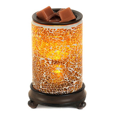 Crackled Amber Wax Warmer