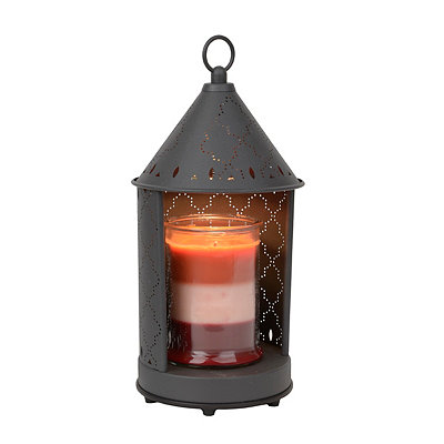 Bronze Punched Metal Lantern Candle Warmer