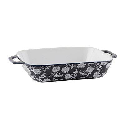 Blue & White Paisley Casserole Dish