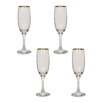 Imperial Gold Flutes, Set of 4