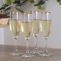 Set of 4 long stem Wine Glasses