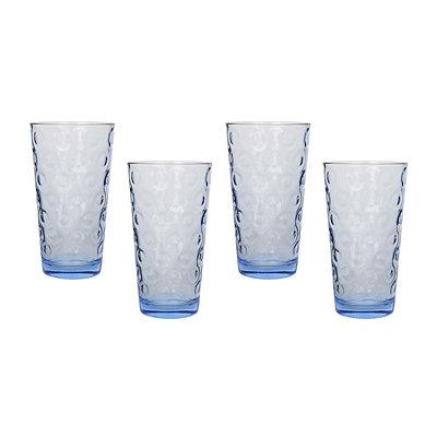 Blue Circle Glasses, Set of 4