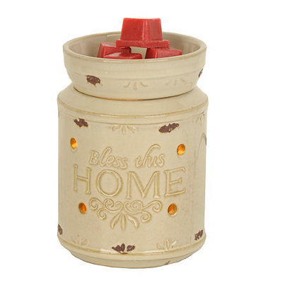 Ivory Bless This Home Wax Warmer