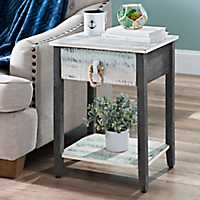 Distressed Coastal Accent Table
