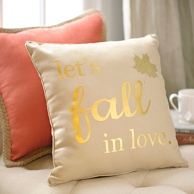 Let's Fall in Love Accent Pillow