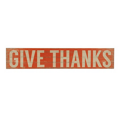 Give Thanks Slatted Wood Plank Word Block