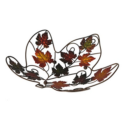 Fall Leaves Metal Bowl