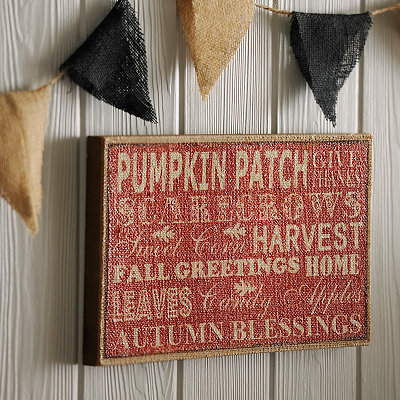 Autumn Inspiration Burlap Plaque
