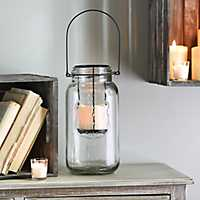 Clear Mason Jar LED Lantern