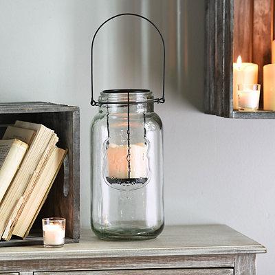 Clear Mason Jar LED Lantern