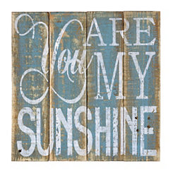 You Are My Sunshine Wood Plank Plaque