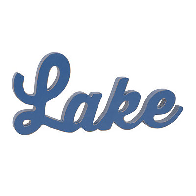 Blue Lake Wooden Sign