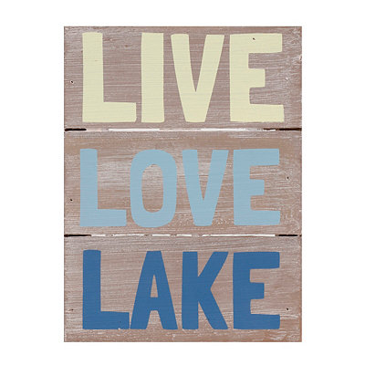 Live Love Lake Wooden Sign