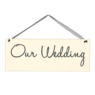 Our Wedding Wall Sign