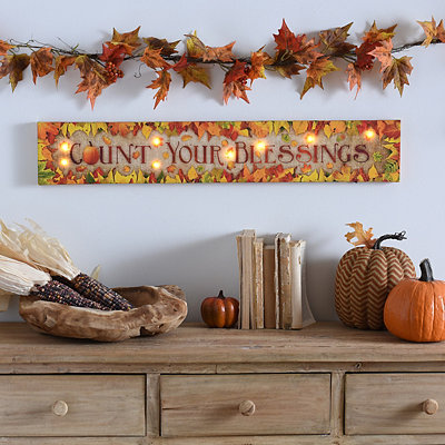 Count Your Blessings LED Canvas Art Print