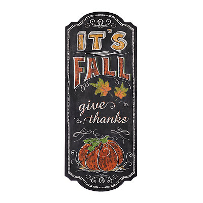 It's Fall Chalkboard Art Wooden Plaque