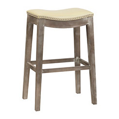 Mystique Beige Bonded Leather Bar Stool