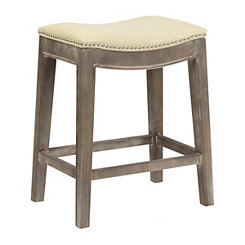 Mystique Beige Bonded Leather Counter Stool